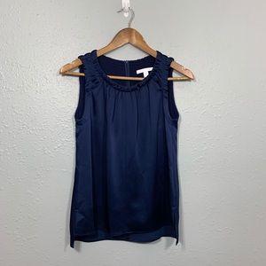 HUGO BOSS Satin Navy Blue Blouse Size 2 US/ 38 IT